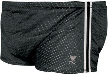 TYR Poly Mesh Swim Trainer Resistance Shorts: Black Size 32