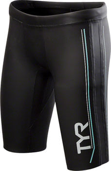 TYR Hurricane Cat 1 NEO Women's Neoprene Training and Racing Shorts: Black/Seafoam SM