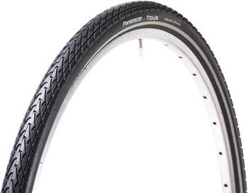 Panaracer Tour Tire - 700 x 42, Clincher, Steel, Black/Reflective