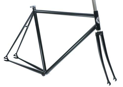 Milwaukee Bicycle Co. Cream City Frameset - Pre-Powder Coated - Satin Black