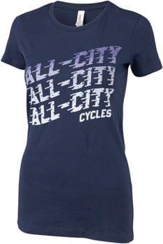 All-City Flow Motion T-Shirt - Womens, Blue, X-Large