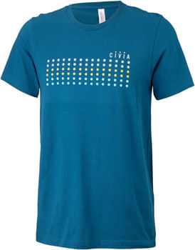 Civia Dot T-Shirt: Deep Teal LG