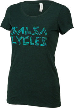 Salsa Barnwood Logo Women's T-Shirt: Green XL