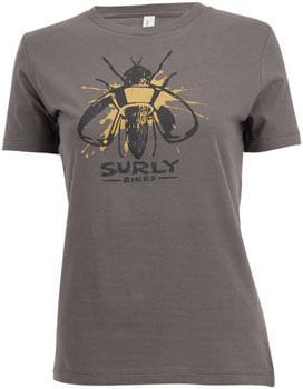 Surly Wingnut T-Shirt - Gray, Women's SM