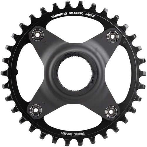 Shimano STEPS SM-CRE80 Chainring without Chainguide, 50mm Chainline, 38t
