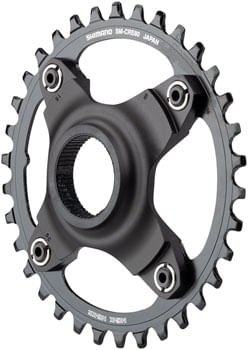 Shimano STEPS SM-CRE80 eBike Chainring - 34t, 56.5mm Chainline, Without Chainguide, Black