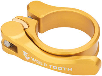 Wolf Tooth Components Quick Release Seatpost Clamp - 34.9mm, Gold