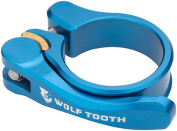 Wolf Tooth Components Quick Release Seatpost Clamp - 36.4mm, Blue