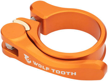 Wolf Tooth Components Quick Release Seatpost Clamp - 36.4mm, Orange