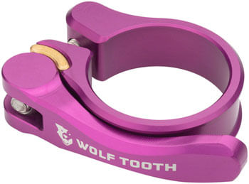 Wolf Tooth Components Quick Release Seatpost Clamp - 36.4mm, Purple