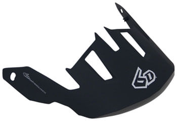 6D ATB-1T Evo Helmet Visor: Gray/White