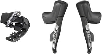 SRAM RED eTap AXS Electronic Road Groupset - 1x, 12-Speed, Cable Brake/Shift Levers, eTap AXS Rear Derailleur, D1
