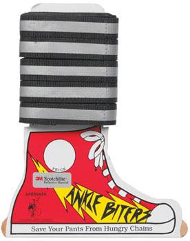 Aardvark Ankle Biters Reflective legbands Black Cd/25
