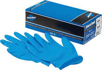 Park Tool MG-2X Nitrile Mechanic Gloves: Xlarge, Blue