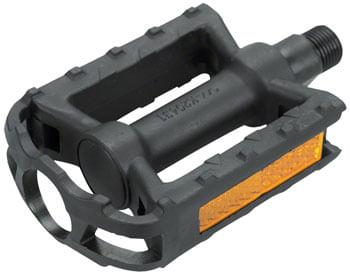 """Dimension Junior Pedals - Platform, Plastic, 1/2"""", Black"""