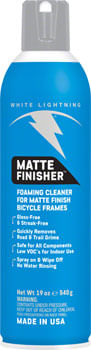 White Lightning Matte Finisher Bike Cleaner, 19oz Aerosol