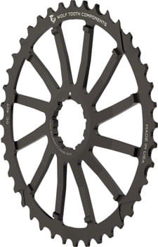 Wolf Tooth 40T GC cog for SRAM 11-36 10-speed Cassettes, Black