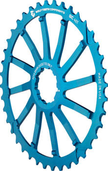 Wolf Tooth 40T GC cog for SRAM 11-36 10-speed Cassettes, Blue