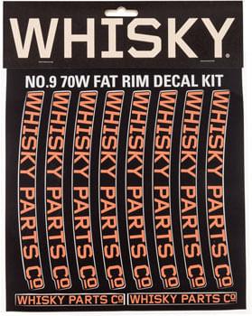 WHISKY 70w Rim Decal Kit for 2 Rims Orange