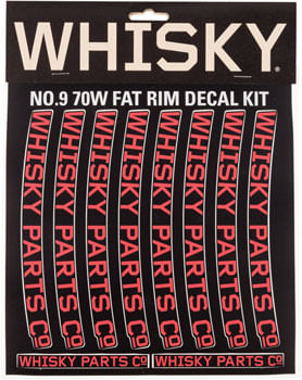 WHISKY 70w Rim Decal Kit for 2 Rims Red