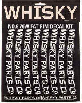 WHISKY 70w Rim Decal Kit for 2 Rims Light Gray