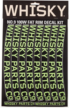 WHISKY 100w Rim Decal Kit for 2 Rims Lime Green
