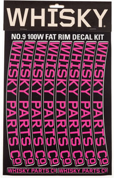 WHISKY 100w Rim Decal Kit for 2 Rims Magenta