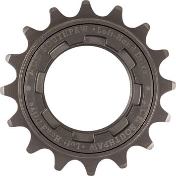 ACS Southpaw Freewheel - 16t, Gun Metal, For Left Hand Drive