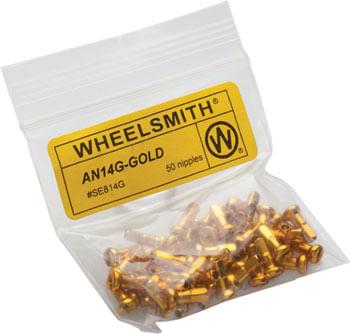 Wheelsmith 2.0 x 12mm Gold Alloy Nipples, Bag of 50