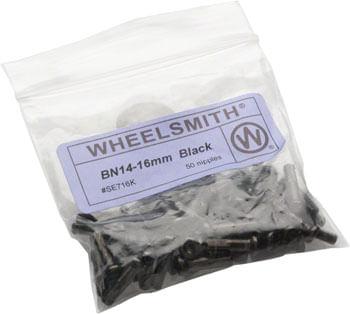 Wheelsmith 2.0 x 16mm Black Brass Nipples, Bag of 50
