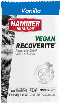 Hammer Vegan Recoverite Drink Mix: Vanilla 12 Single Serving Packets