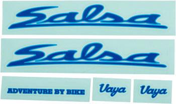 Salsa Vaya Travel Decal Set Blue