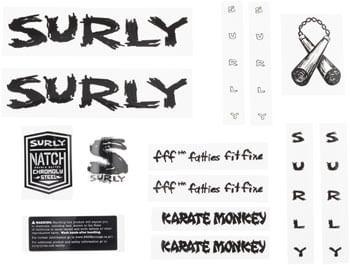 Surly Karate Monkey Frame Decal Set - Black