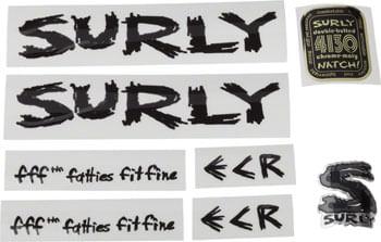 Surly ECR Frame Decal Set - Black
