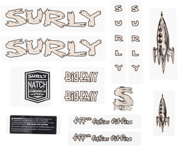 Surly Big Easy Frame Decal Set - Tan