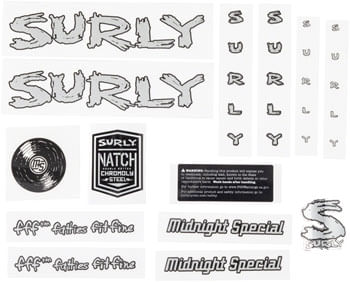 Surly Midnight Special Frame Decal Set - Silver