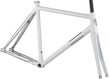 All-City Thunderdome Frameset - 700c, Aluminum, Polished Pearl, 52cm