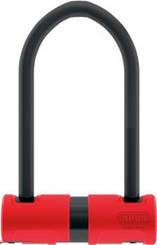 """Abus 440A Alarm U-Lock - 4.2 x 6.3"""", Keyed, Black/Red, Includes bracket"""