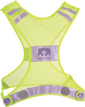 Nathan Reflective Streak Vest: LG/XL, Neon Yellow