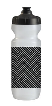 QBP Purist Water Bottle, 22oz, Hell Yes Black/White