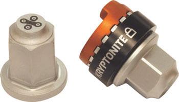 Kryptonite Security Wheelnutz Solid Axle Locking Nuts: Silver 3/8
