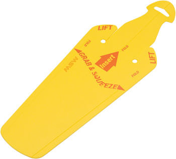 MSW Splashpad Fender - Rear, Yellow