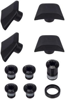 FSA (Full Speed Ahead) SL-K ABS Chainring Bolt Kit - Black, 10-Piece Kit