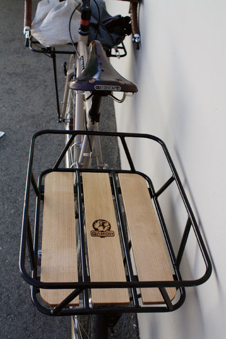 GAMOH Rear Cargo Rack - Black/Wood