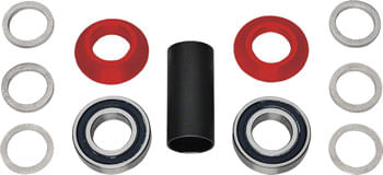 Profile Racing Spanish Bottom Bracket Set Red (no Spindle)