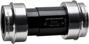 CeramicSpeed PF30 Shimano Road Bottom Bracket - PF30, 68mm, 24mm Spindle, Coated Bearings, Silver