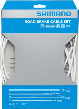 Shimano Road PTFE Brake Cable and Housing Set, White
