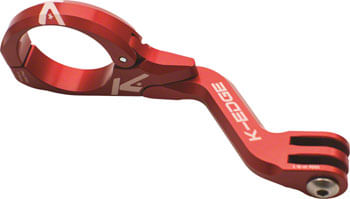 K-EDGE Go Big Pro Universal Action Camera and Light On-Center Handlebar Mount 31.8mm: Red