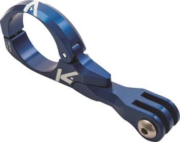 K-EDGE Go Big Pro Universal Action Camera and Light Handlebar Mount 31.8mm: Blue