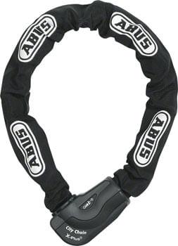 ABUS Keyed Chain Lock Granit City XPlus Chain (110cm): Black